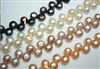 "38420 Flat Lay Out Fresh Water Pearl Necklace 18"" w/925 Silver 11mm Claps"