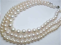 "38428-11 11mm AA Fresh Water Pearl Necklace 18"" w/925 Silver Claps"