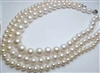 "38428-8 8mm AA Fresh Water Pearl Necklace 18"" w/925 Silver Claps"