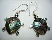 43117 Abalone Shell Earring w/925 Silver Hook