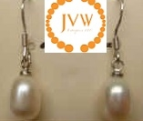 43183 Rice Fresh Water Pearl w/925 Silver Earring