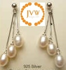 43186 Fresh Water Pearl Earring w/925 Silver Hook