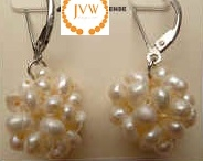 43238 16mm Fresh Water Pearl Luster Earring w/925 Silver Back