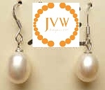 43270 9.5-10mm Fresh Water Pearl Earring w/925 Silver