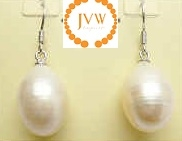 43271 12mm Fresh Water Pearl Earring w/925 Silver