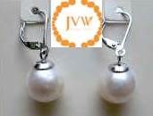 43289 12mm Fresh Water Pearl Earring w/925 Silver Lever Back