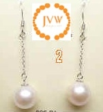 43295 10mm Fresh Water Pearl w/925 Silver chain Earring