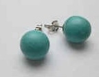 43296-10 10mm Turquoise Stone Earring