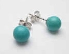 43296-6 6mm Turquoise Stone Earring