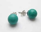 43296-8 8mm Turquoise Stone Earring