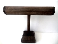 51001-3 Walnut T Bar Bracelet Display (Round Bar)