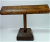51002-3 Walnut Color Wood T Bar Bracelet Display (Oval Bar)