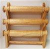 51010-1 Natural Color Three Level Wood Bracelet Display