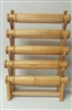 51011-1 Natural Wood Five Level Bracelet Display