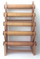 51011-2 Brown Wood Five Level Bracelet Display
