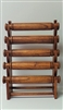 51011-3 Walnut Wood Five Level Bracelet Display