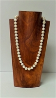 51015-2 (Small) Brown Wood Necklace Display