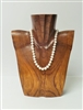 51020-2 Brown Wood Necklace Display