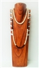 51021-2 7 Slots Brown Wood Necklace Display