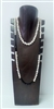 51021-3 7 Slots Walnut Color Wood Necklace Display