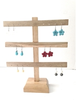 51030-1 Wood Earring Display
