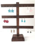 51030-3 Wood Earring Display