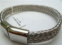 68006 Leather Bracelet with Stainless Steel Claps