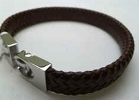 68030 Leather Bracelet with Stainless Steel Claps