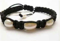 68040 Leather Bracelet with Fresh Water Pearl