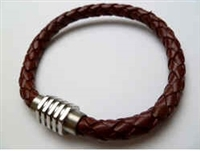 68059 Leather Bracelet with Stainless Steel Claps