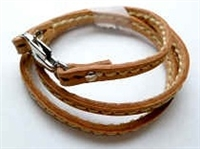 68075 Leather Bracelet with Stainless Steel Claps