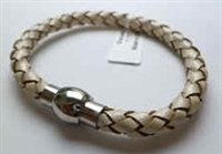 68081 Leather Bracelet with Stainless Steel Claps