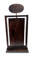 Dark Wood Necklace Display