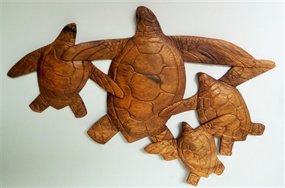 Wood Turtle Family Display