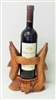 Wood Dophin Wine Holder