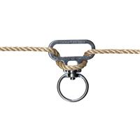 This original designed In-Line Swivel ensures that a lead rope will not become twisted or unraveled while tied.Once the line is tightened the In-Line Swivel will not move, keeping horses seperated. Stainless steal constructions will endure years of use.