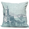 Lighthouse Engraving Pillow - Silverberry