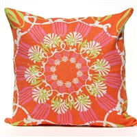 Scroll Suzani Pillow - Tropical