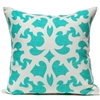 Open Trellis Pillow - Aqua
