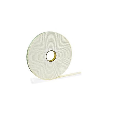 "ONE ROLL FT03-01.00   >  1/32"" THICK X 1"" WIDE X 216' PERMANENT FOAM TAPE QTY. 1 /ROLL"