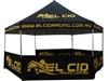 This durable, high quality, best value custom printed Hexagon shaped 6-sided canopy event tent is full color and would be perfect for the display of your business logo at your next out door event.