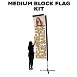 MEDIUM CUSTOM PRINTED ADVERTISING BANNER FLAG KIT (SINGLE-SIDED)