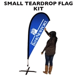 SMALL CUSTOM PRINTED ADVERTISING TEARDROP FLAG KIT (SINGLE-SIDED)