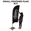 SMALL CUSTOM PRINTING FEATHER ADVERTISING BANNER FLAG KIT (Single-Sided)