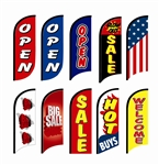 SMALL STOCK PRINTING FEATHER FLYING BANNER FLAG KIT (Single-Sided)