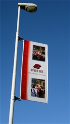 "34.5"" x 48""- FLEX LIGHT POLE BANNER"