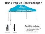 10 X 15 Event Pop Up Tent w/ Custom Printed Canopy, PLUS carry bag and ground spikes
