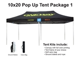 10 X 20 Event Pop Up Tent w/ Custom Printed Canopy, PLUS carry bag and ground spikes