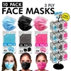 10-Pack Face Masks 288pc Display (Adults)
