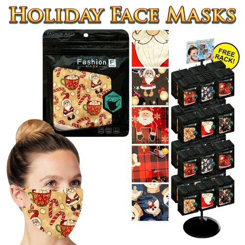 Holiday Reusable Face Masks (288pc)